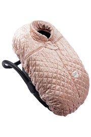 7AM Enfant Quilted Velvet Ultra Lightweight Cocoon For Baby's Car Seat - Front full body