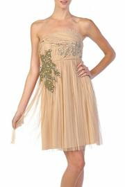 Ryu Strapless Nude Dress - Front cropped