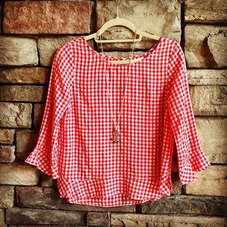 steph&co Gingham Top - Instagram Image