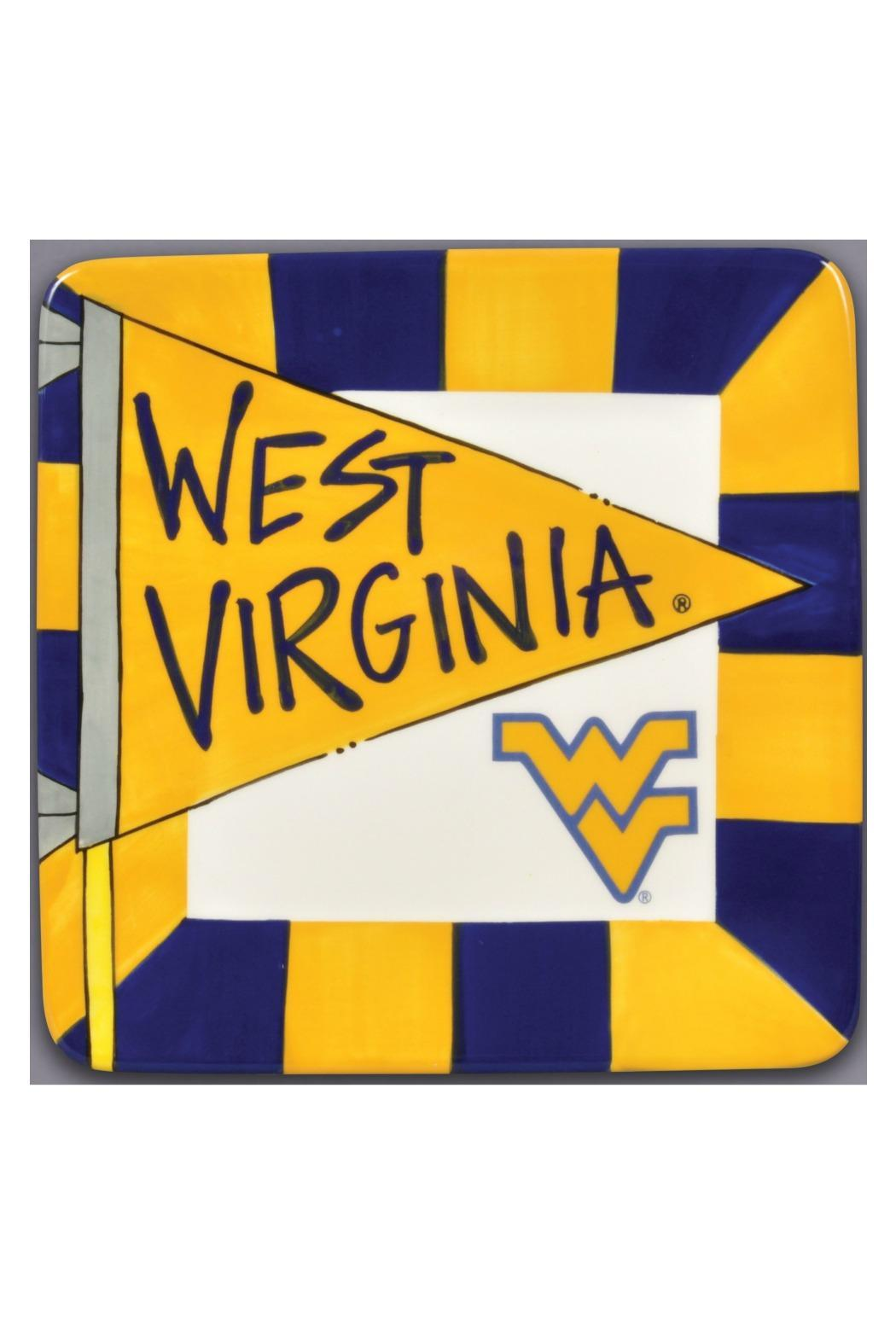 Magnolia Lane Collection WVU Ceramic Plate - Main Image