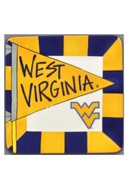 Magnolia Lane Collection WVU Ceramic Plate - Front cropped