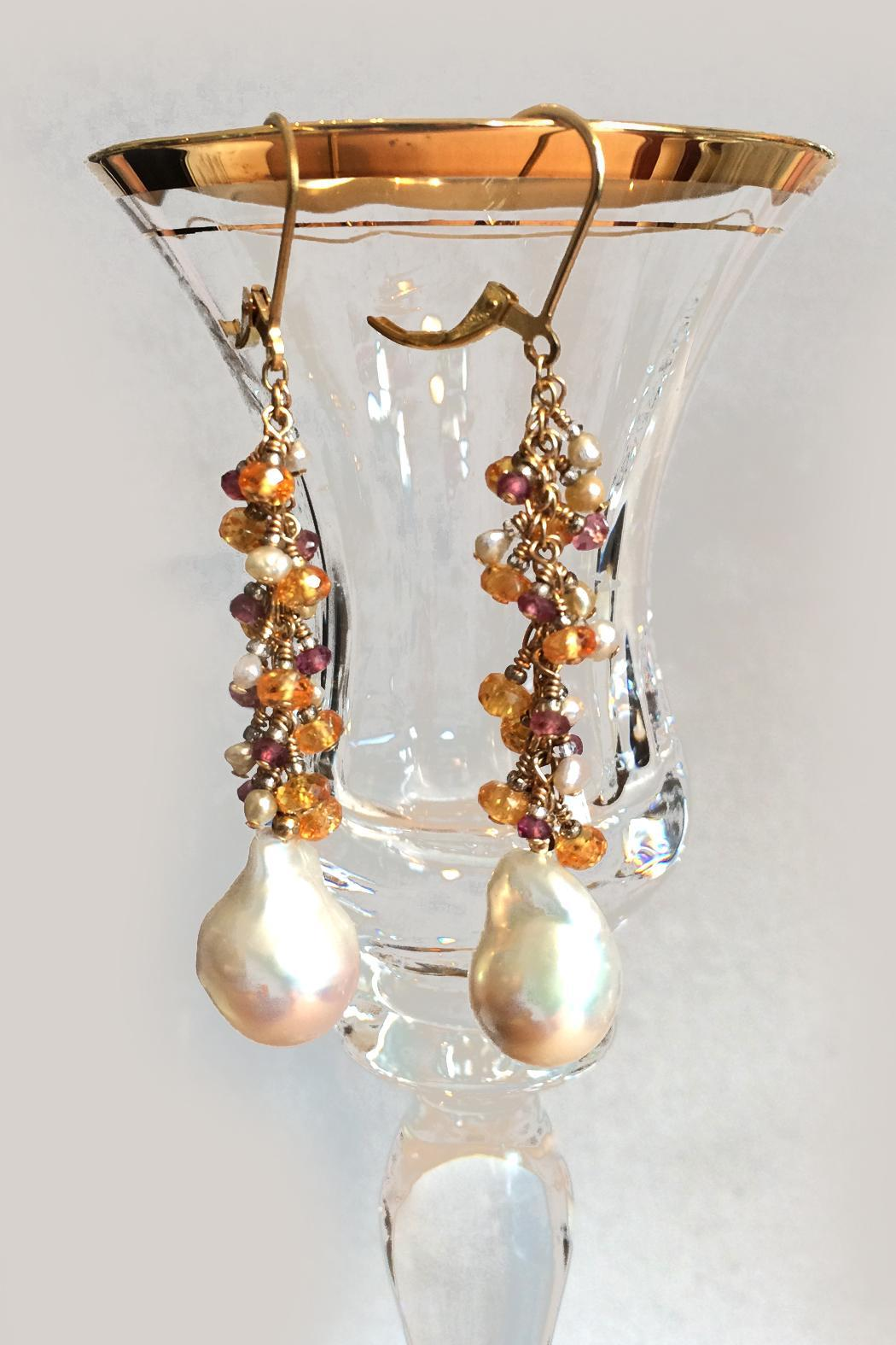 Melinda Lawton Jewelry Garnets And Pearls - Front Full Image