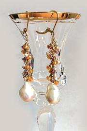 Melinda Lawton Jewelry Garnets And Pearls - Front full body