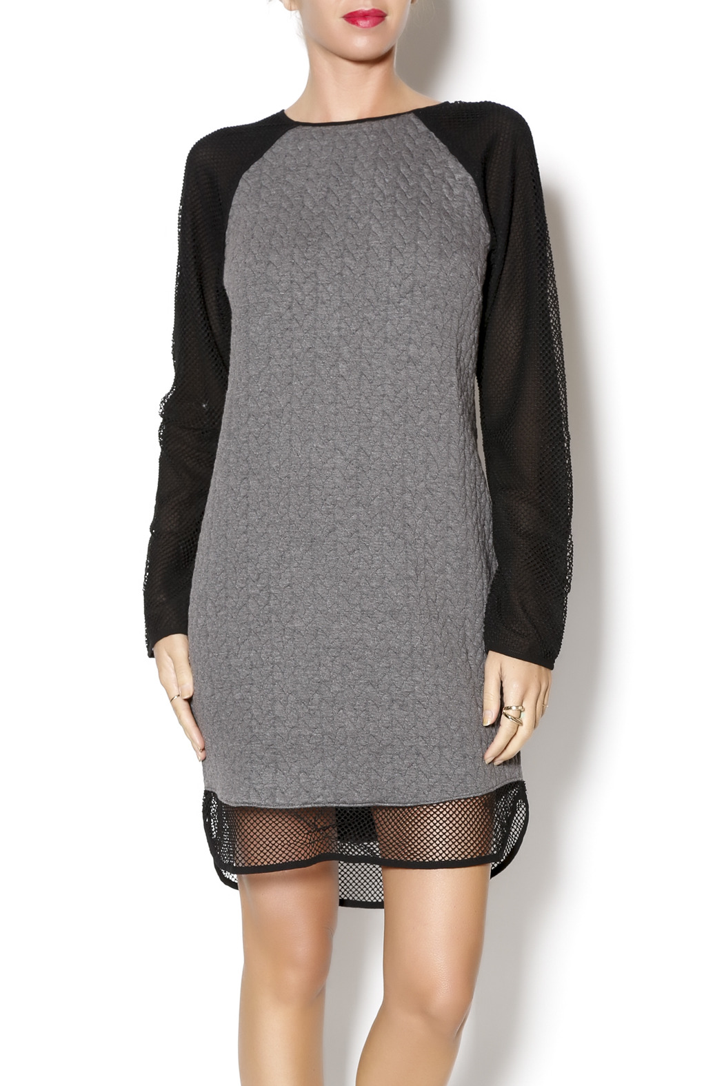 Greylin Jasper Textured Dress - Front Cropped Image