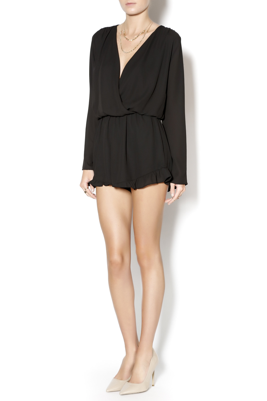 61fb91ecc758 Honey Punch Long Sleeve Black Romper from New Jersey by Pretty Edgy ...