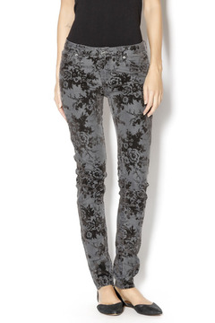 Dear John Flocked Velvet Denim Pant - Product List Image