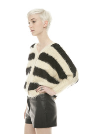 Shoptiques Product: Fuzzy Stripe Sweater - Side cropped