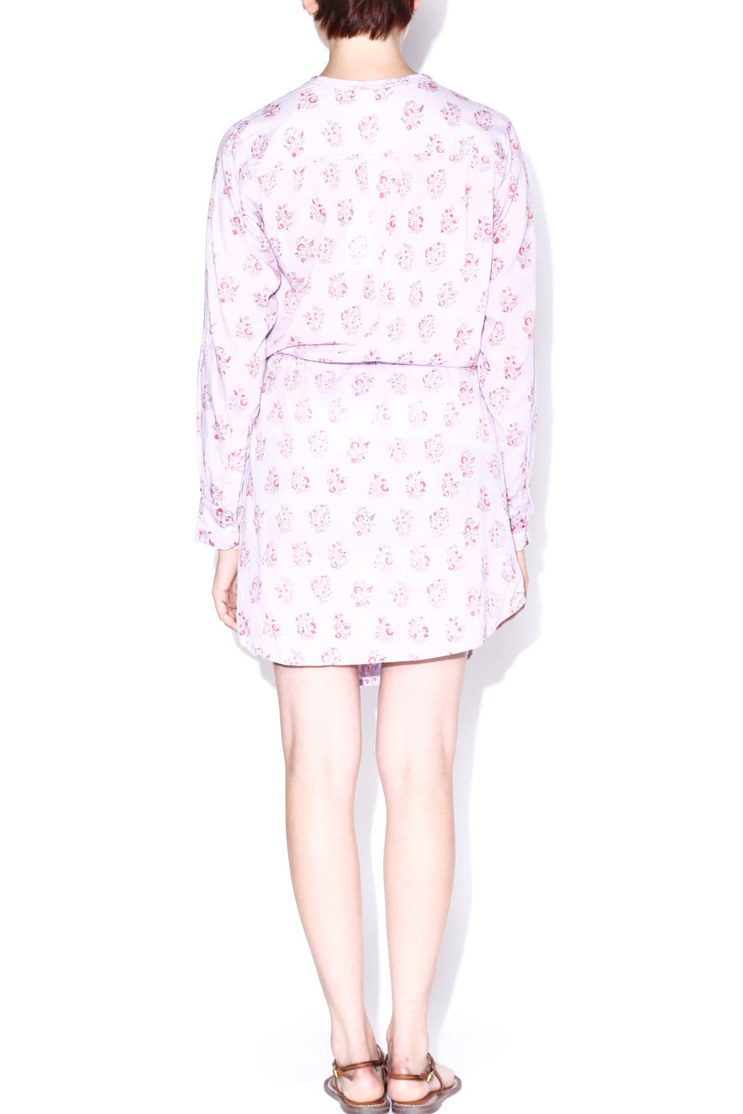 Kerry Cassill Shirt Dress - Back Cropped Image