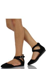 Soda Round-Toe Ankle-Strap Flat - Back cropped
