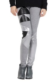 Shoptiques Product: Silver and Black Leggings