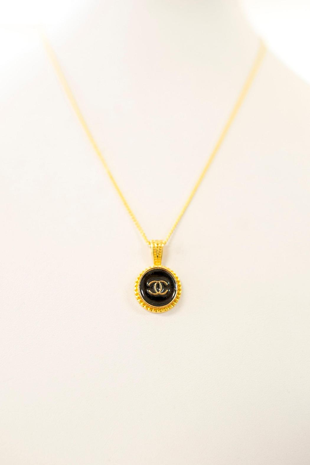Recycled Vintage Couture Chanel Button Necklace from California by Bella At The ...