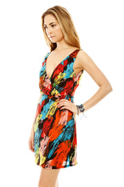 Shoptiques Product: V-Neck Print Dress - Side cropped