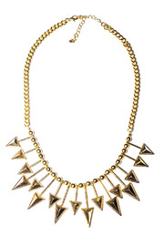 Shoptiques Product: Gold Arrow Necklace - Front cropped