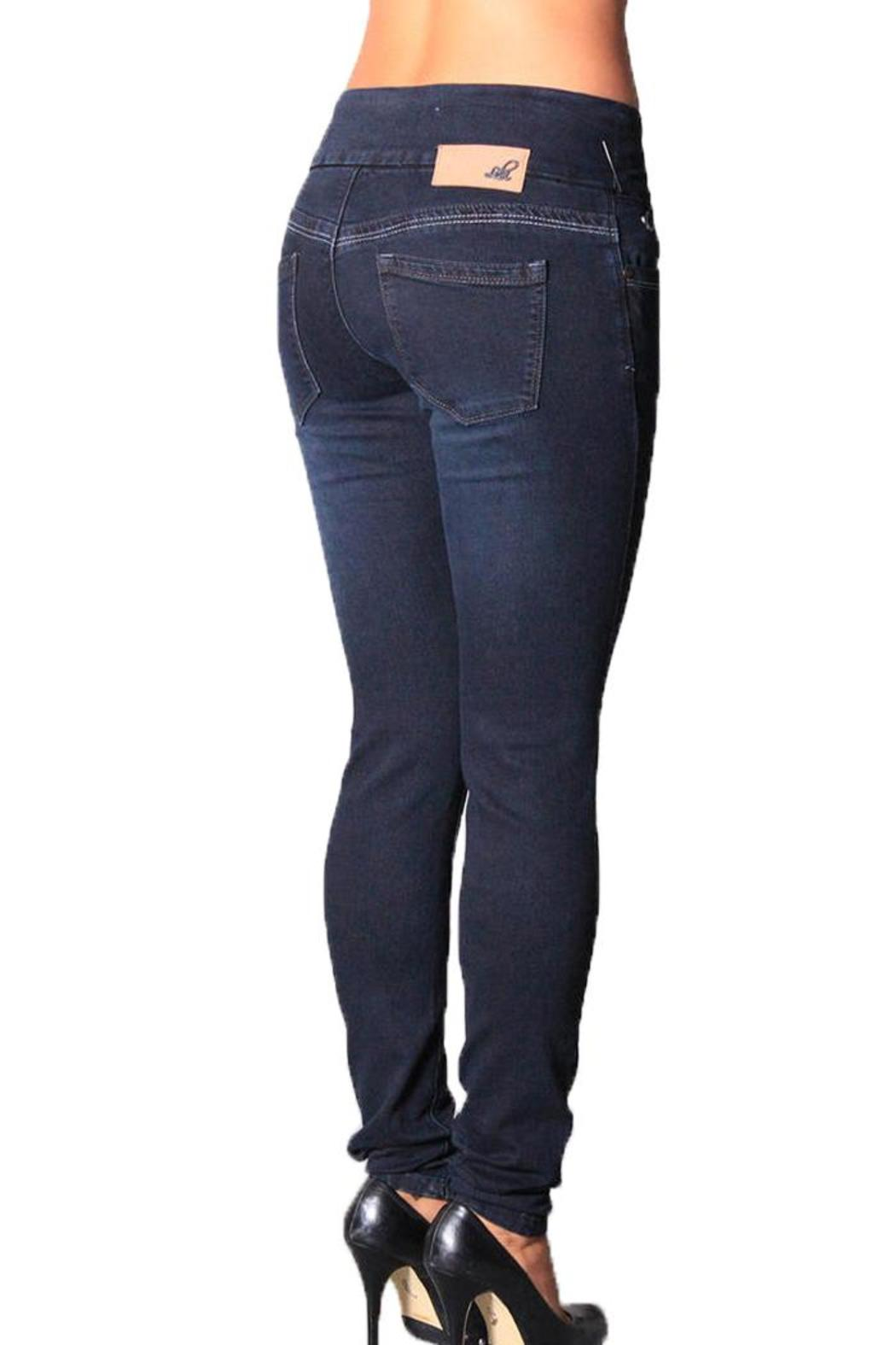 LOLA Pull-On Slimming Jeans - Back Cropped Image