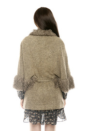 Shoptiques Product: Furry Boucle Cape - Back cropped