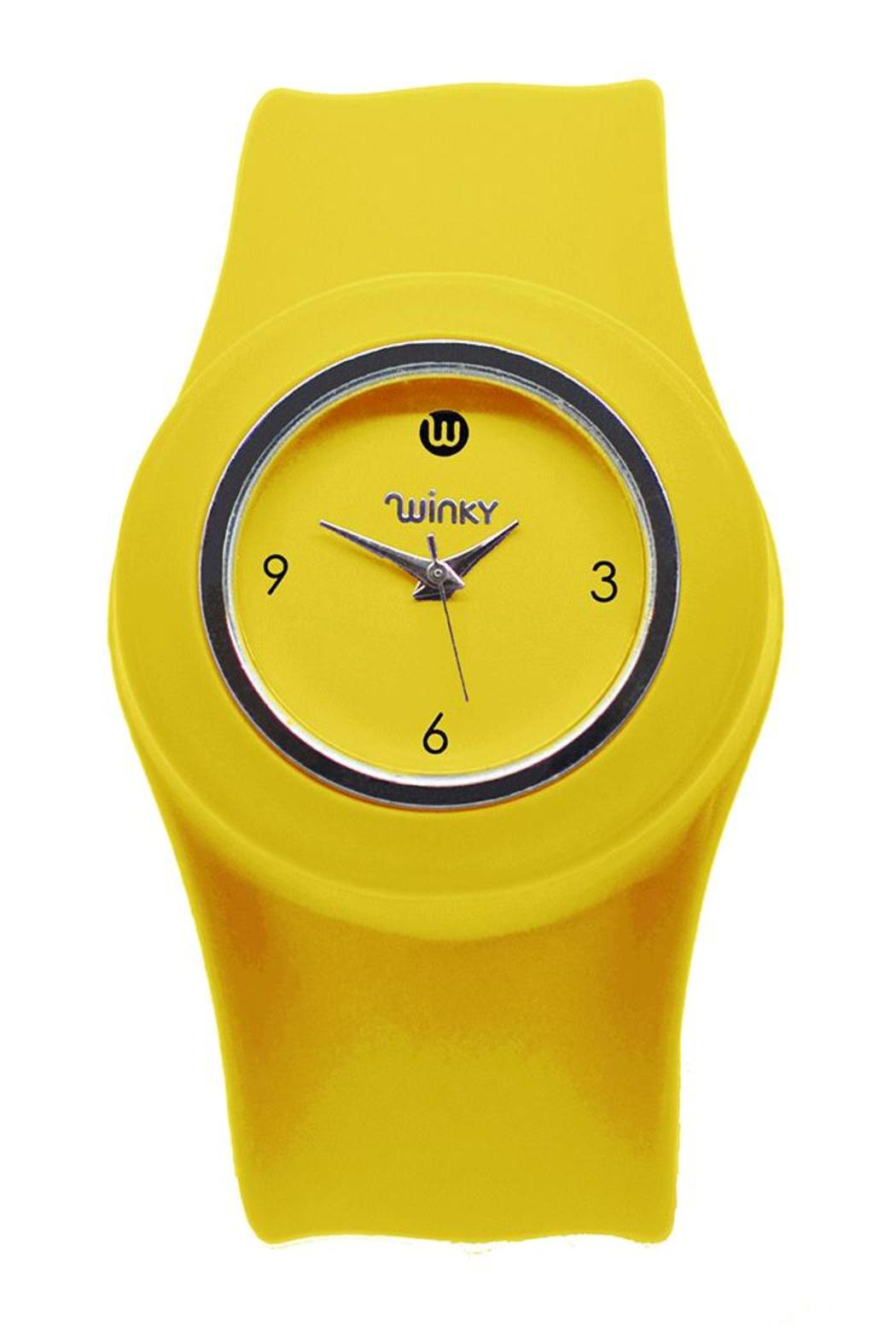 Winky Designs Yellow Slap Watch - Front Cropped Image