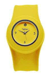Winky Designs Yellow Slap Watch - Front cropped