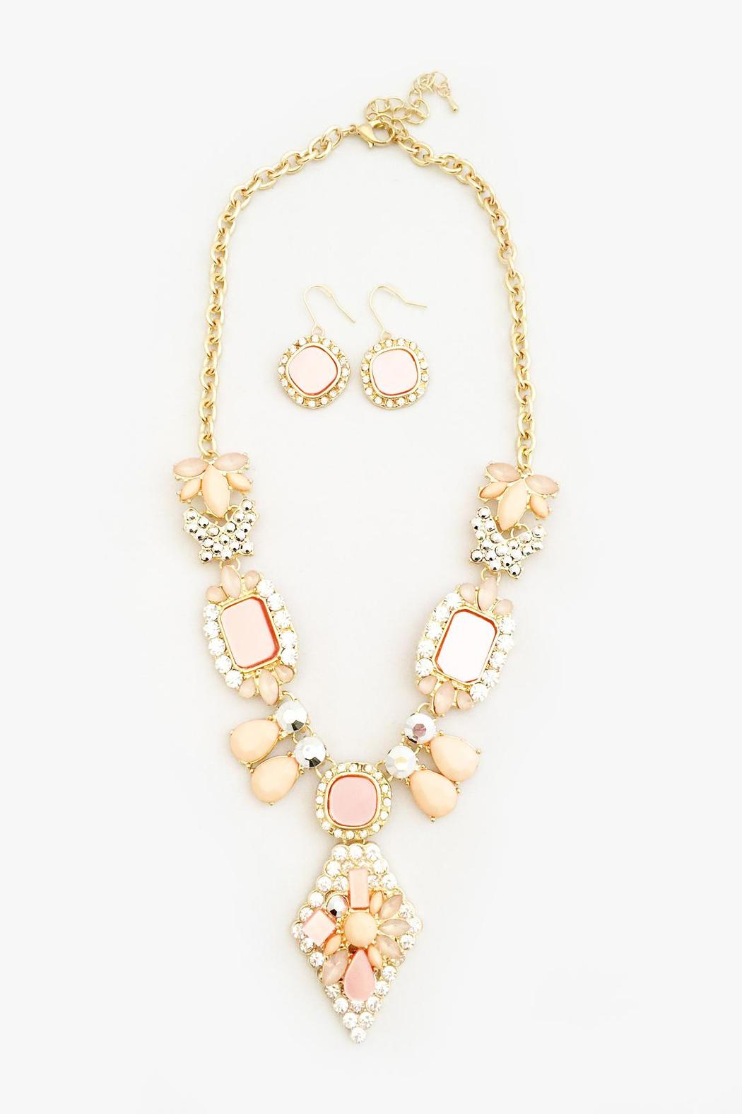 Bling Bling Sisters Peach Necklace Set - Main Image