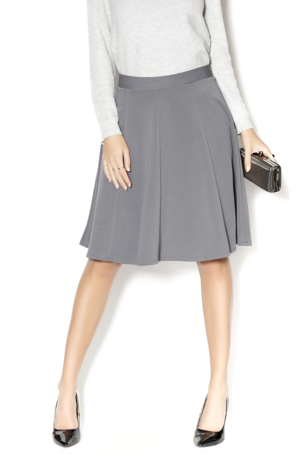 Gray A Line Skirt - Redskirtz