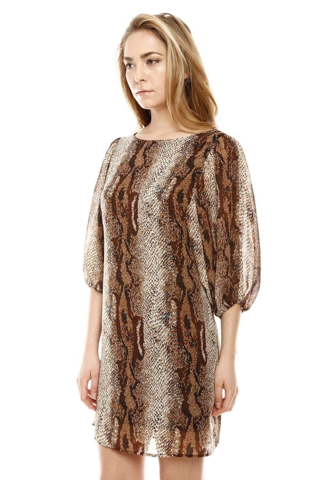 Auditions Fashion Snake Print Dress - Side Cropped Image