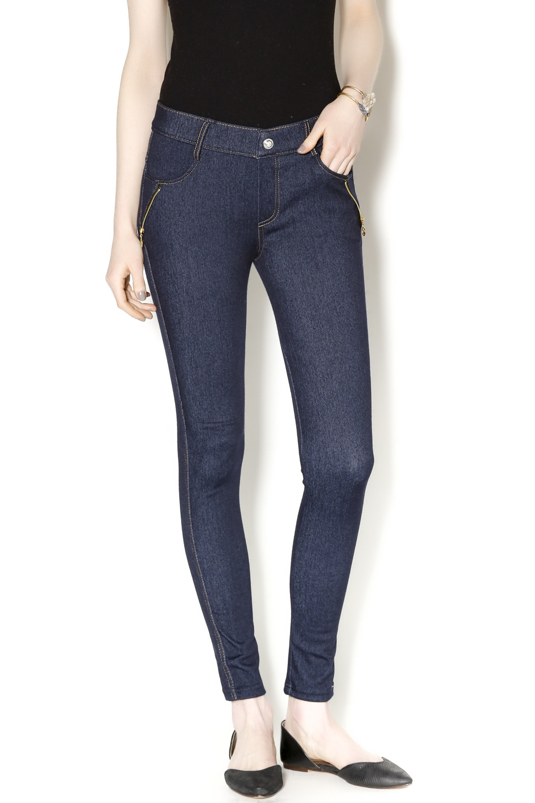 Yelete Indigo Jeggings - Main Image
