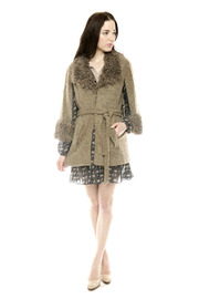 Shoptiques Product: Furry Boucle Cape - Front full body