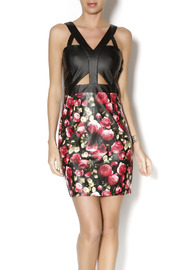 t.l.b.d. Floral Cutout Dress - Product Mini Image