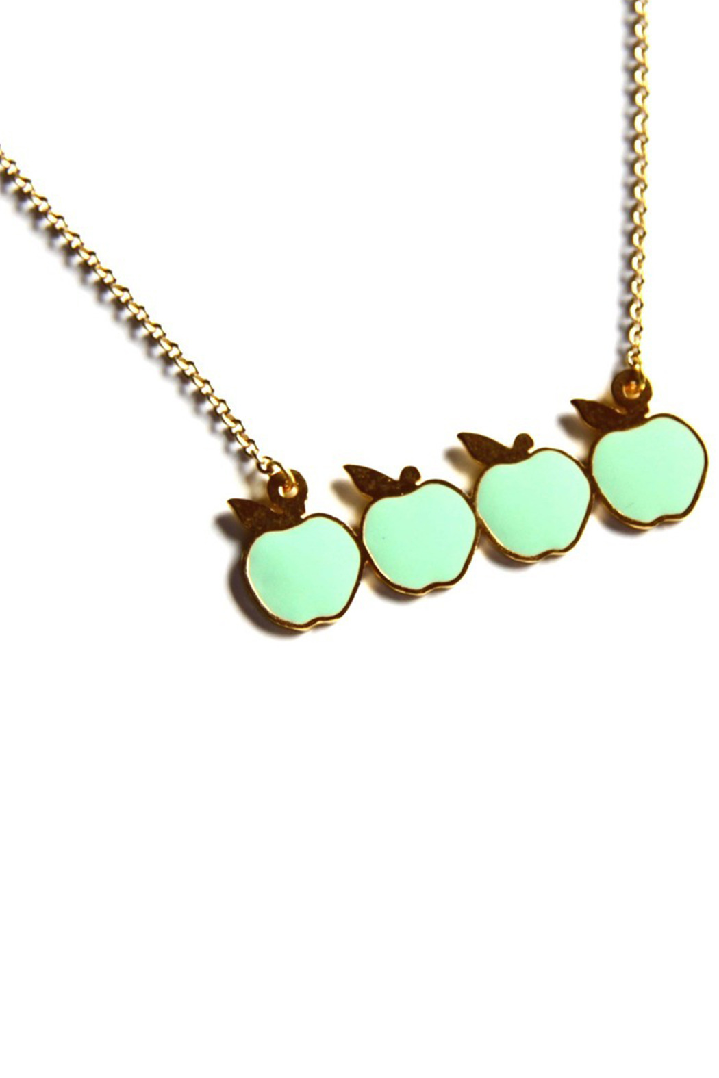 Bonnie Heart Apples Necklace - Front Cropped Image