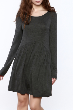 Shoptiques Product: Charcoal Long Sleeve Dress