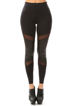 Shoptiques Product: Leather Sheer Leggings