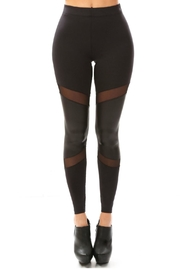 7TH BEE Leather Sheer Leggings - Product Mini Image