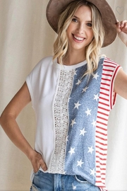 7th Ray Americana Lace Top - Front cropped