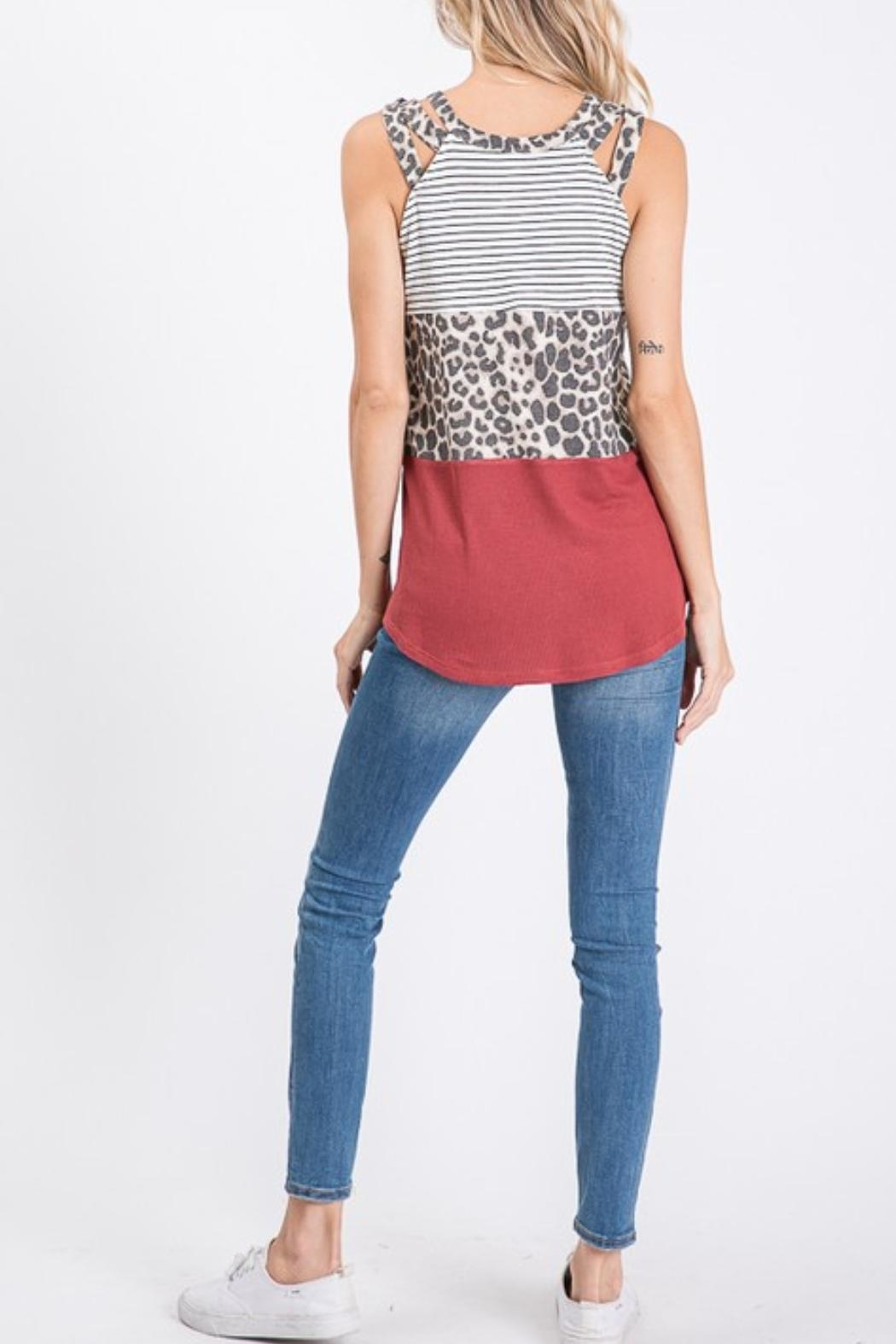 7th Ray Block Tank Top - Front Full Image
