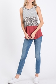 7th Ray Block Tank Top - Front cropped