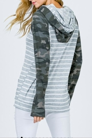 7th Ray Camo Raglan-Sleeve Hoodie - Front full body