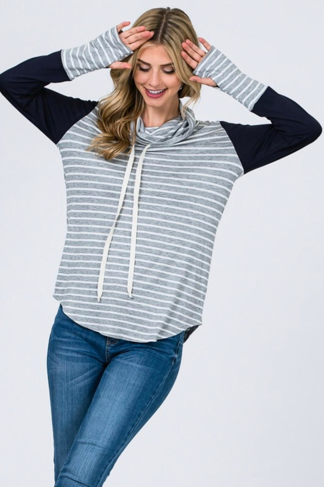 7th Ray Cowl Neck Top - Main Image