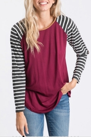7th Ray Elbow Patch Top - Side cropped