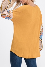 7th Ray Floral Sleeve Top - Product Mini Image