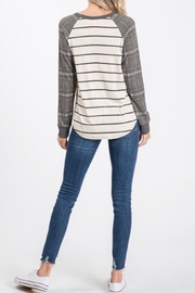 7th Ray Plaid Raglan-Sleeve Top - Other