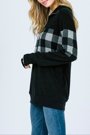 7th Ray Plaid Zip-Up Sweater - Other