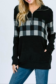 7th Ray Plaid Zip-Up Sweater - Product Mini Image