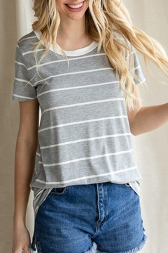 7th Ray Striped Laced Tee - Product List Image