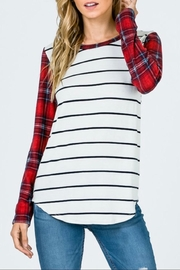 7th Ray Striped Plaid Shirt - Product Mini Image