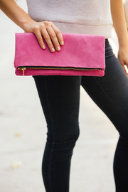 Victoria Khoss Foldover Clutch - Back cropped