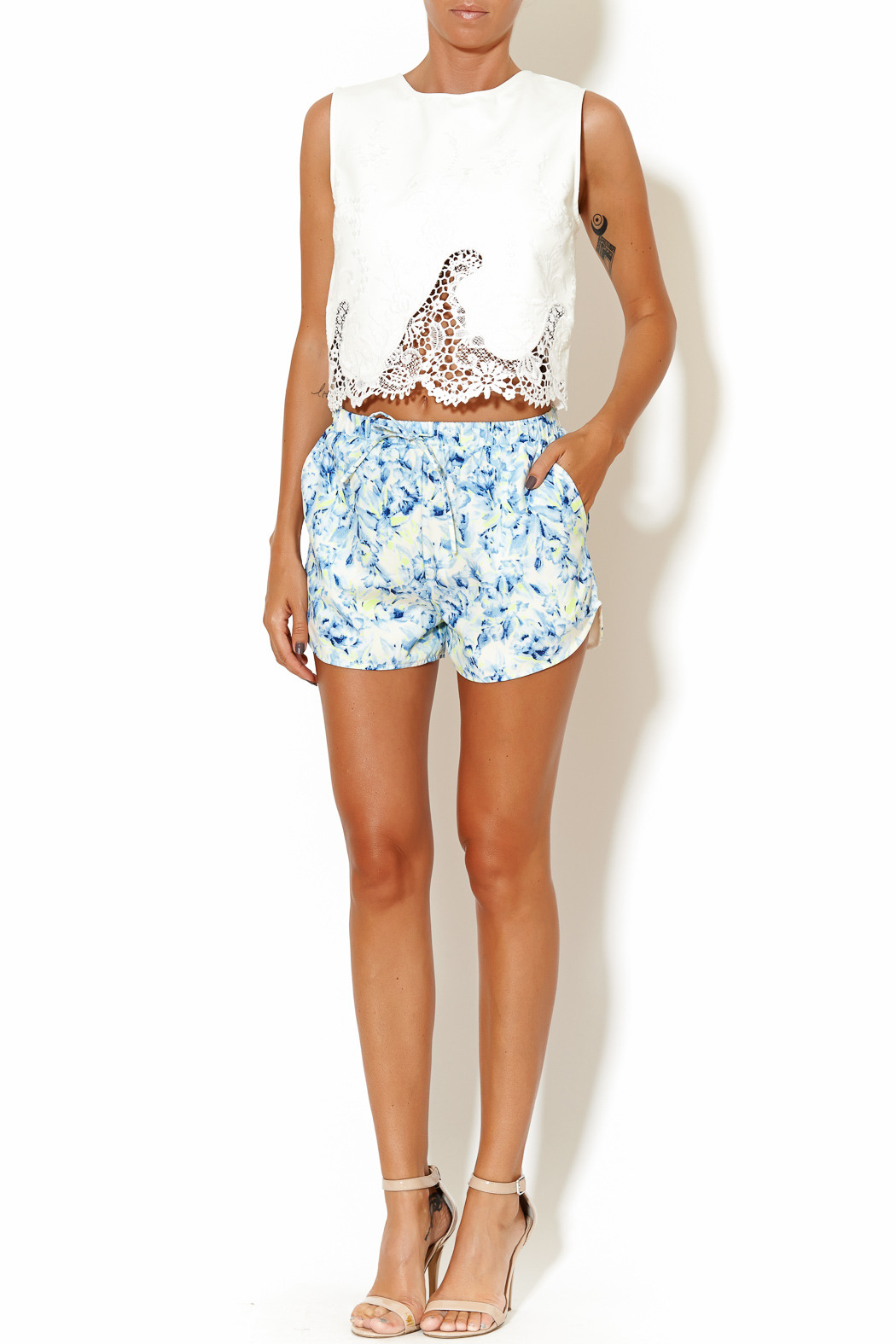 Lovers + Friends Adore Shorts - Front Full Image