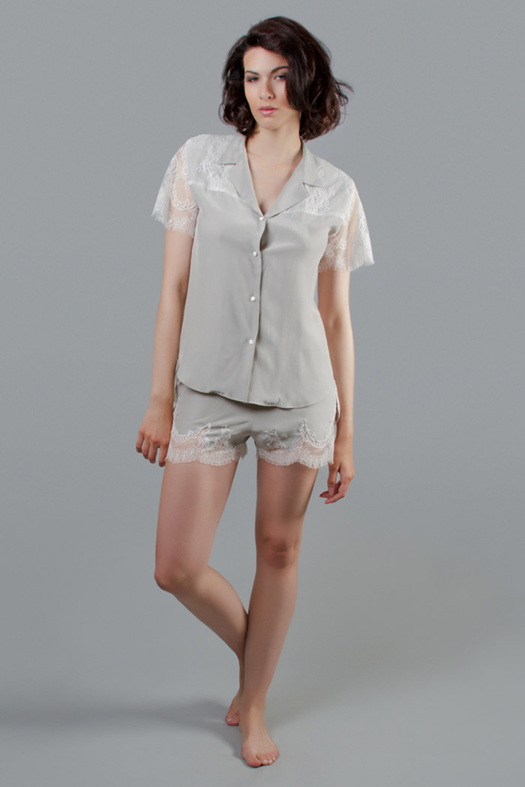 b564e6d77f Ari Dein Hotel Demi Lace Pajama Top from Pennsylvania by byLangley ...