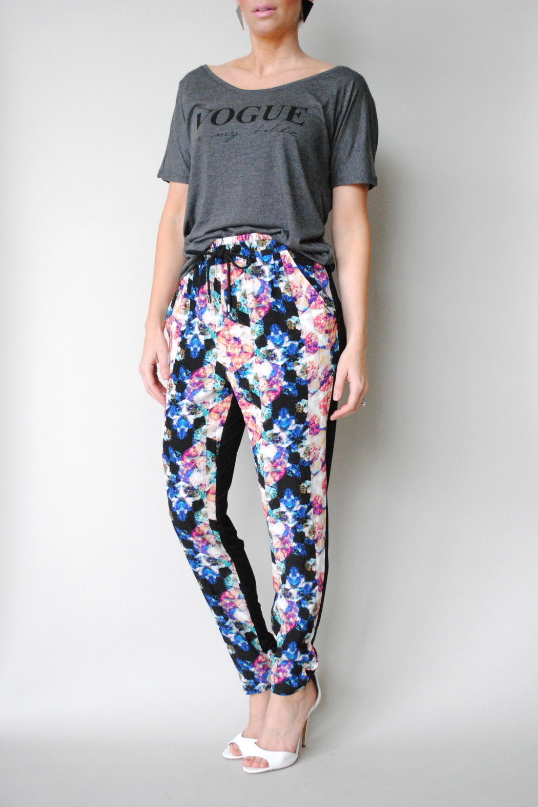Numph Floral Pants - Front Full Image