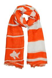 Winky Designs Orange Goldfish Scarf - Front cropped