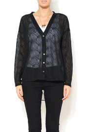 A'reve Sheer Garden Cardi - Front cropped