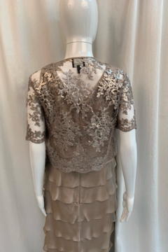 Adrianna Papell 81895060 - Flutter Dress/Sequin Jacket - Product List Image